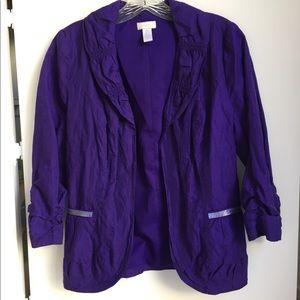 Dressy Purple Slightly Iridescent Jacket, Size 0